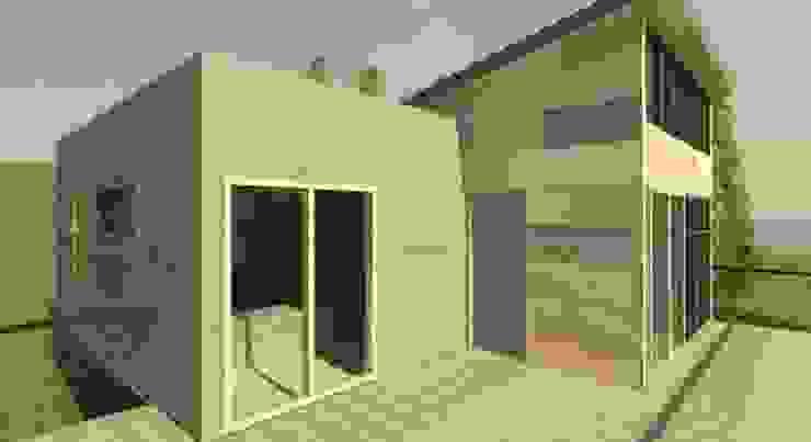 vista terraza de Incove - Casas de madera minimalistas