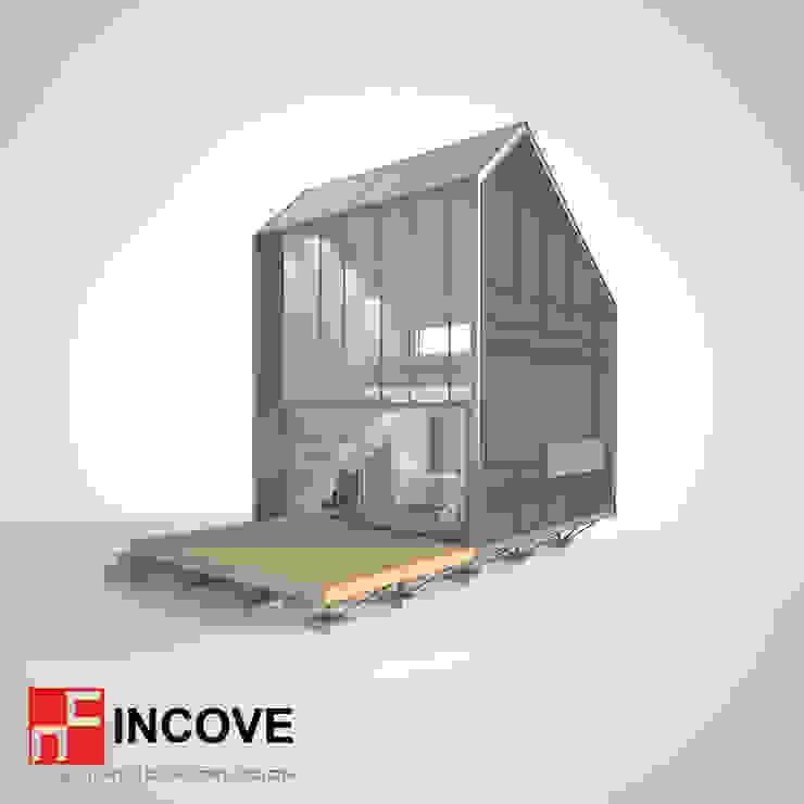 Vista lateral de Incove - Casas de madera minimalistas