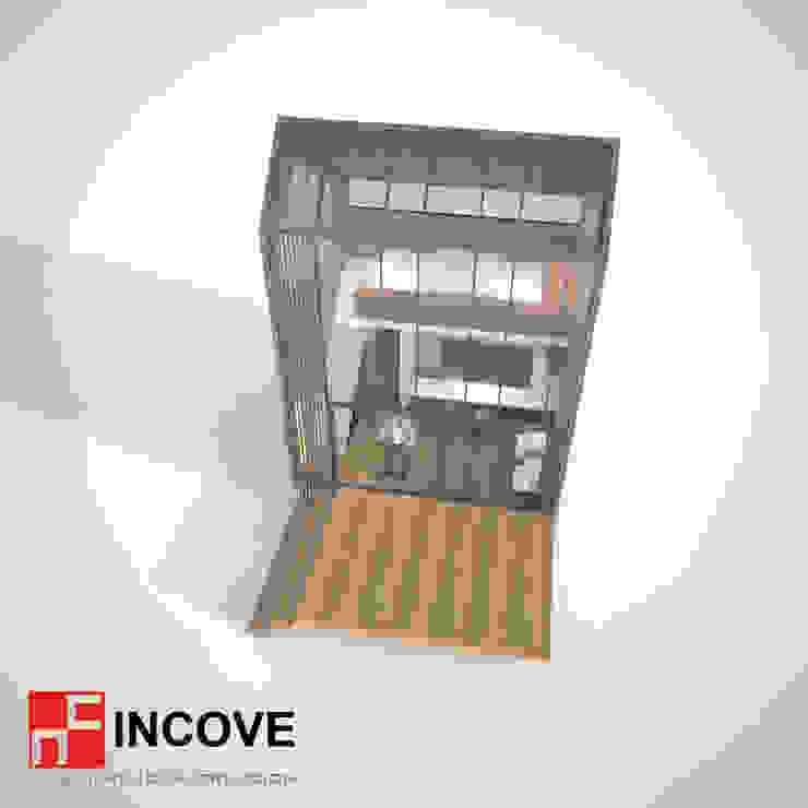 vista superior de Incove - Casas de madera minimalistas