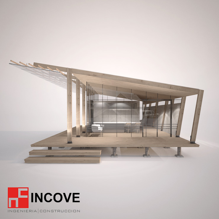 Vista Frontal de Incove - Casas de madera minimalistas