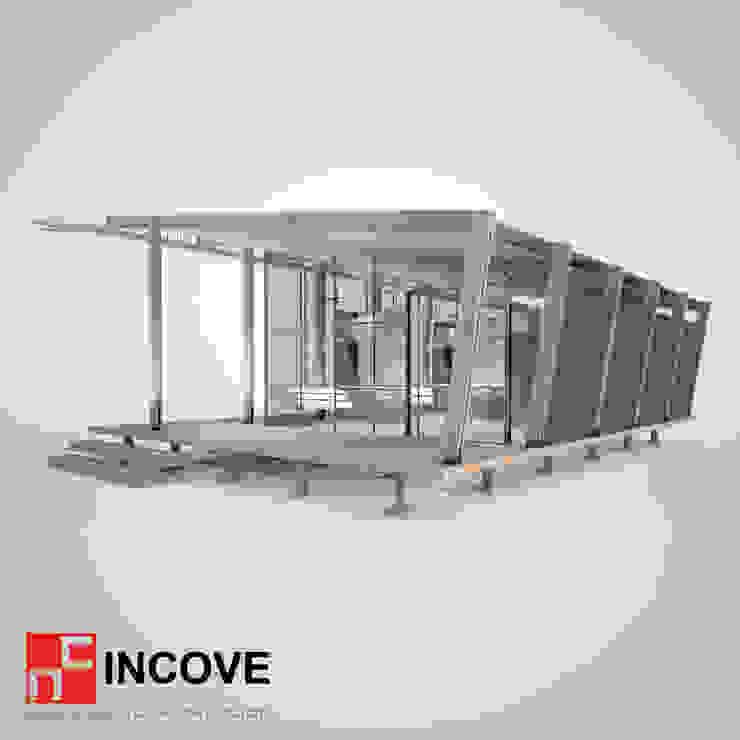 vista posterior de Incove - Casas de madera minimalistas