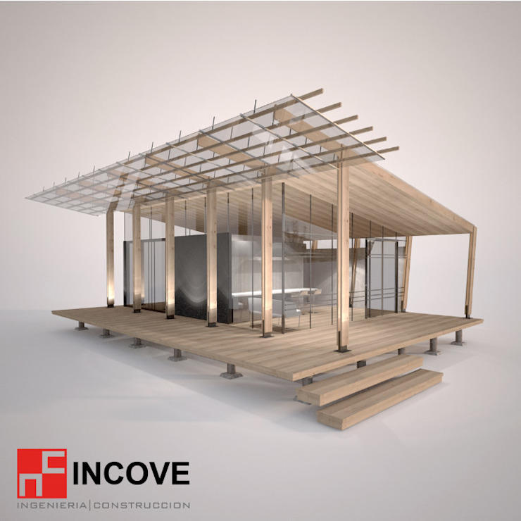 frontal de Incove - Casas de madera minimalistas