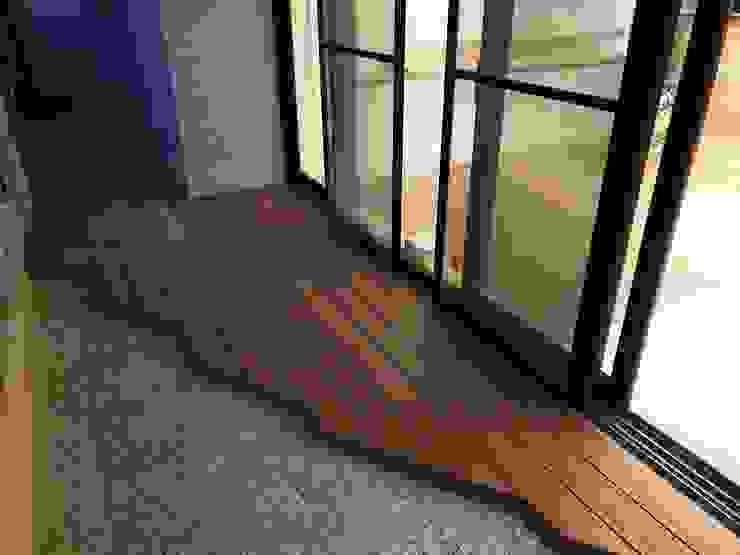 台中七期─特殊造形陽台木地板 根據 新綠境實業有限公司 日式風、東方風