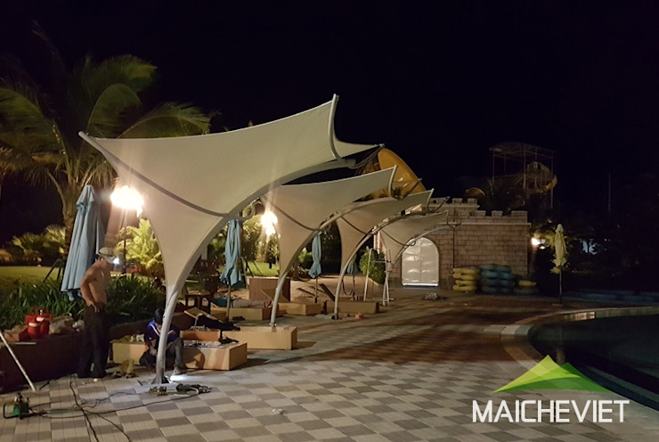 Thiết kế và thi công mái che tại Vinpearl Land Phú Quốc bởi Công ty TNHH Havico Việt Nam