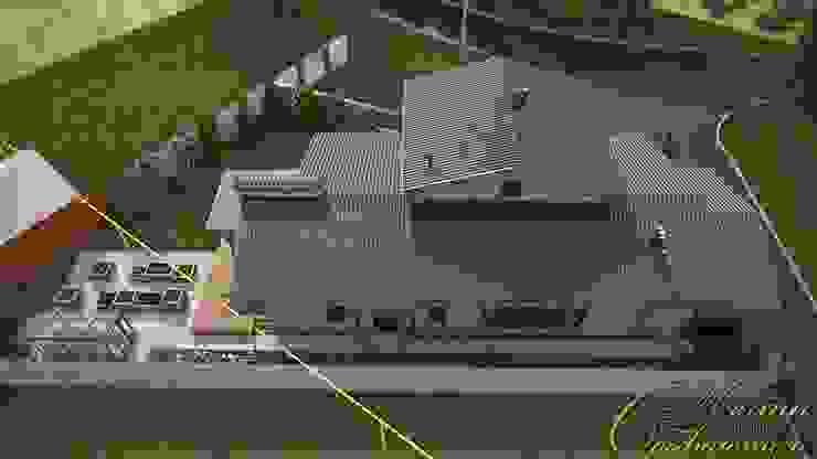 Частный дом с элементами английского стиля Дома в классическом стиле от Компания архитекторов Латышевых 'Мечты сбываются' Классический