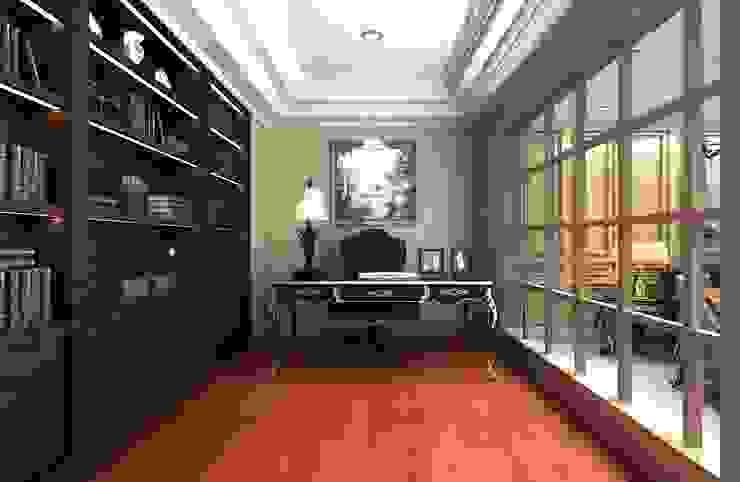 Oficinas y bibliotecas de estilo clásico de 麥斯迪設計 Clásico Madera maciza Multicolor