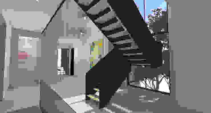 Entrance Foyer Scandinavian style corridor, hallway& stairs by Lijn Ontwerp Scandinavian MDF