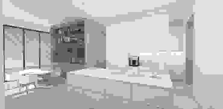 Kitchen & Breakfast Area by Lijn Ontwerp Scandinavian MDF
