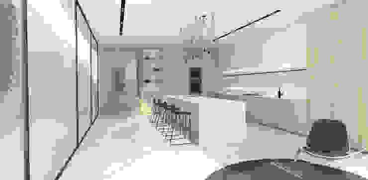 Kitchen by Lijn Ontwerp Scandinavian Stone