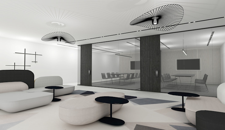 Corporate Interior by Lijn Ontwerp Modern Glass