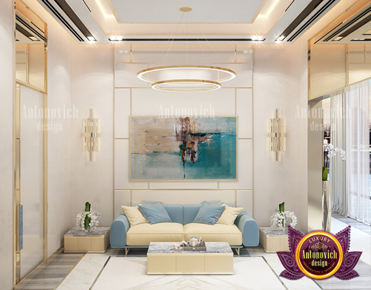 Dazzling Modern Sitting Zone by Luxury Antonovich Design
