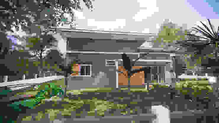 บ้านพักตากอากาศ โดย แบบบ้านออกแบบบ้านเชียงใหม่ ทรอปิคอล คอนกรีต