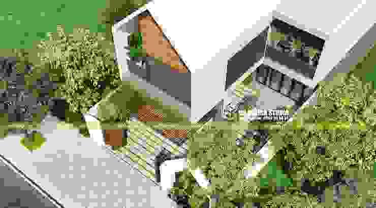 Biệt thự sân vườn 2 tầng bởi UK DESIGN STUDIO - KIẾN TRÚC UK Hiện đại