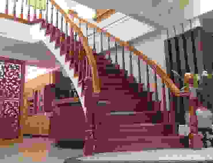 樓中樓室內梯 by 麥斯迪設計 Classic Solid Wood Multicolored