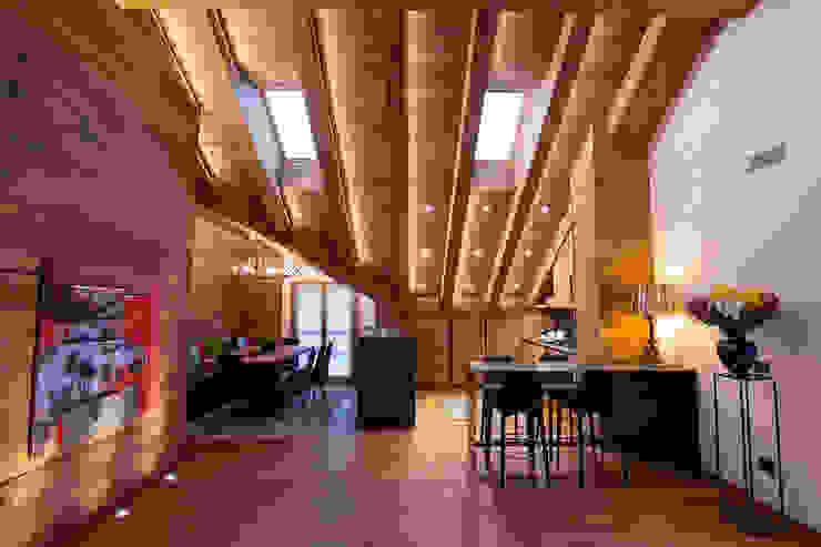 Casa Maloja BEARprogetti - Architetto Enrico Bellotti Soggiorno in stile rustico