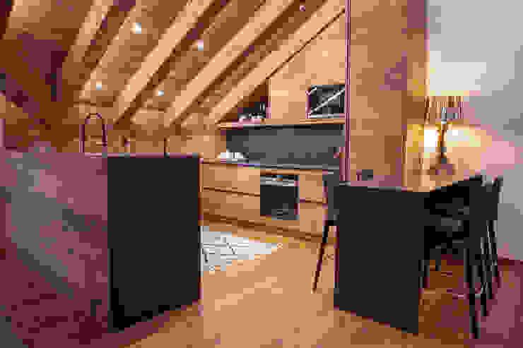 Casa Maloja BEARprogetti - Architetto Enrico Bellotti Cucina in stile rustico