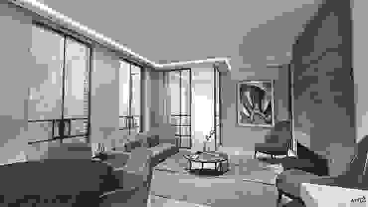 Residence Spui Eclectische woonkamers van Lars Bartels, Interior & architecture Eclectisch