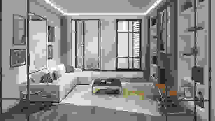 Living @ Spui Eclectische woonkamers van Lars Bartels, Interior & architecture Eclectisch