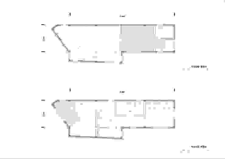 2~3층 평면도: (주)건축사사무소 더함 / ThEPLus Architects의 현대 ,모던