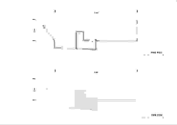 지붕 및 옥상: (주)건축사사무소 더함 / ThEPLus Architects의 현대 ,모던