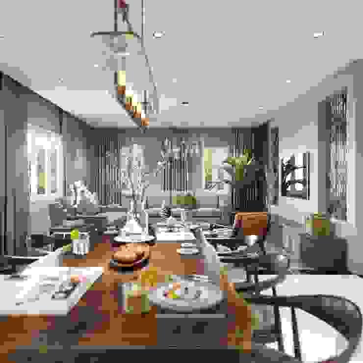Thiết kế nội thất biệt thự hiện đại – Sang trọng đẳng cấp Phòng ăn phong cách hiện đại bởi ICON INTERIOR Hiện đại