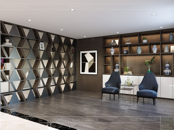 Thiết kế nội thất biệt thự hiện đại – Sang trọng đẳng cấp Phòng giải trí phong cách hiện đại bởi ICON INTERIOR Hiện đại