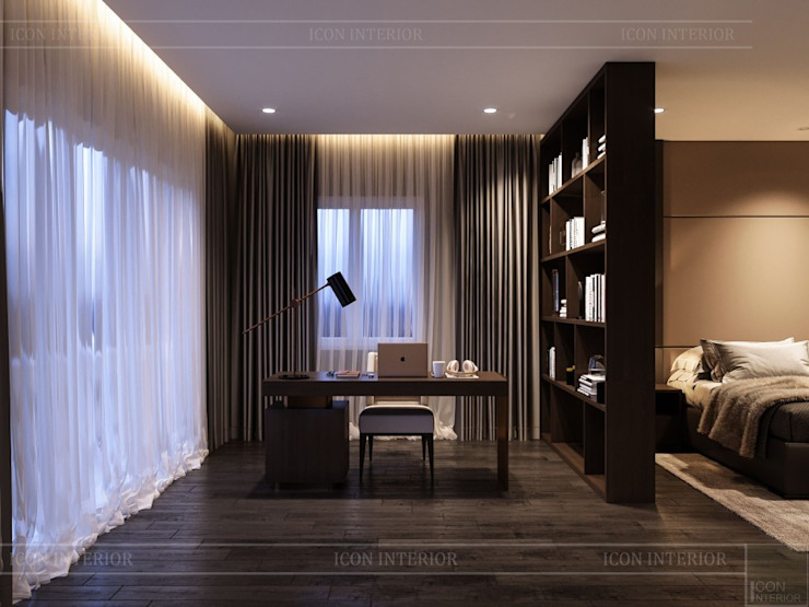 Thiết kế nội thất biệt thự hiện đại – Sang trọng đẳng cấp Phòng học/văn phòng phong cách hiện đại bởi ICON INTERIOR Hiện đại