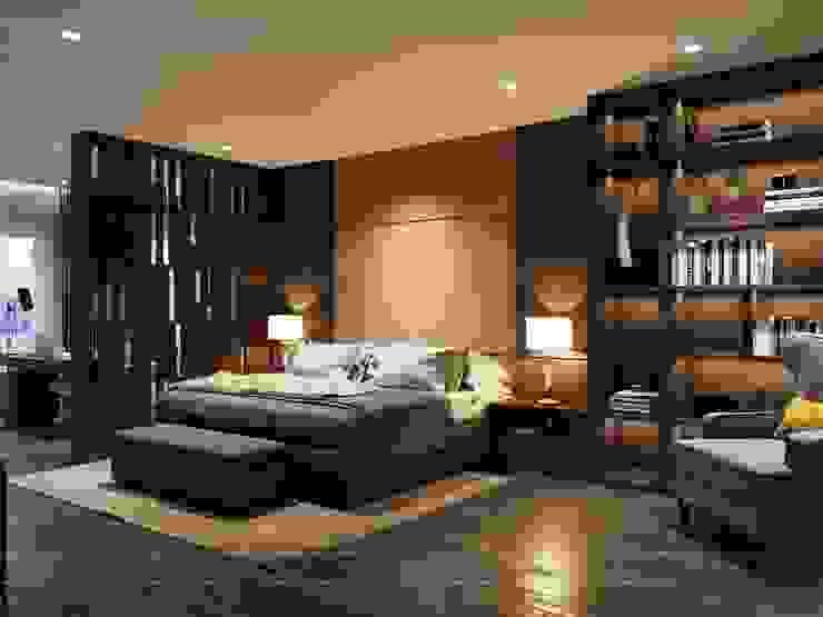 Thiết kế nội thất biệt thự hiện đại – Sang trọng đẳng cấp Phòng ngủ phong cách hiện đại bởi ICON INTERIOR Hiện đại