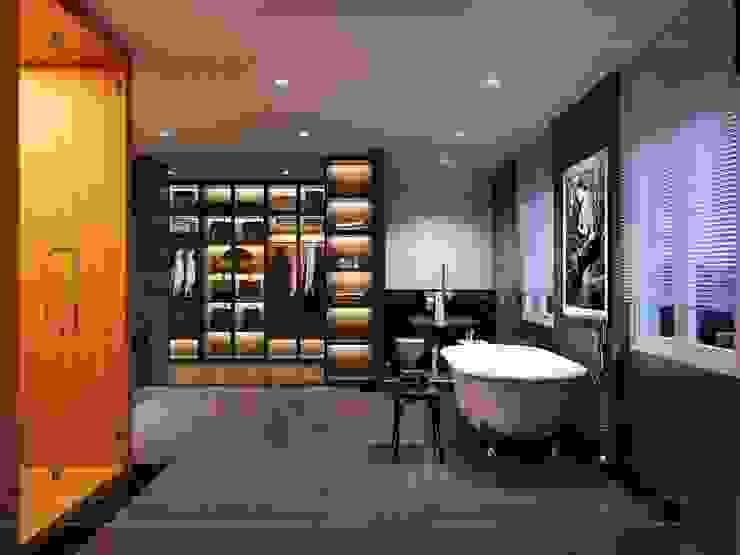 Thiết kế nội thất biệt thự hiện đại – Sang trọng đẳng cấp Phòng tắm phong cách hiện đại bởi ICON INTERIOR Hiện đại