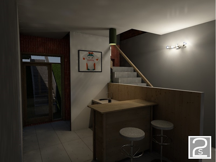 Bar ground floor by Second Studio Design