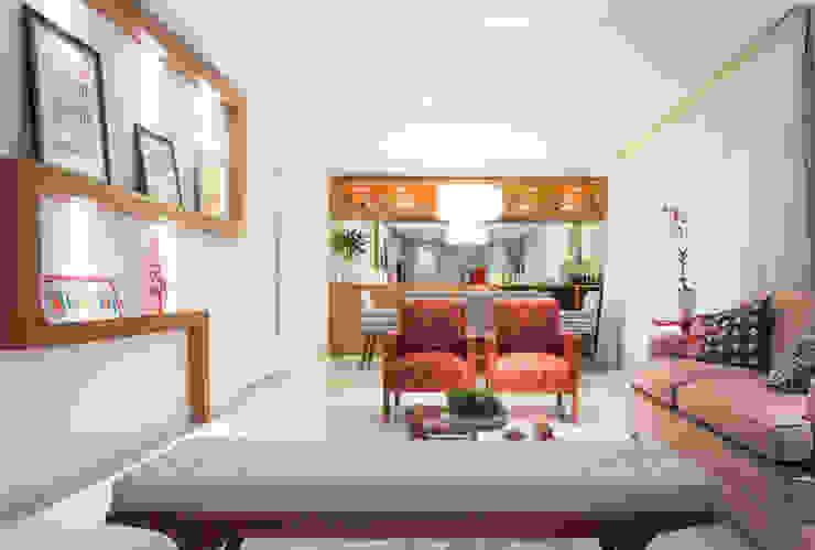 Eklektik Oturma Odası C2HA Arquitetos Eklektik