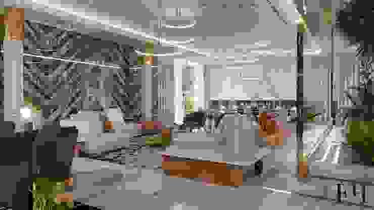 Modern villa interior design in Dubai UAE Modern Living Room by Fancy House Design Modern Marble