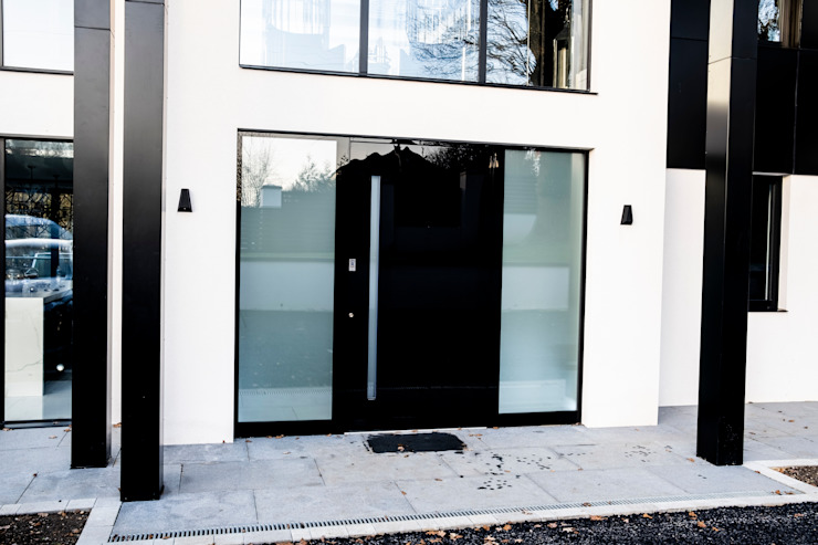 BLACK GLASS DOOR RK Door Systems Pintu