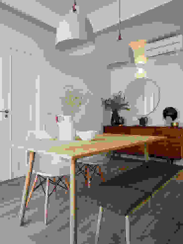 Sala Comum MUDA Home Design Salas de jantar escandinavas