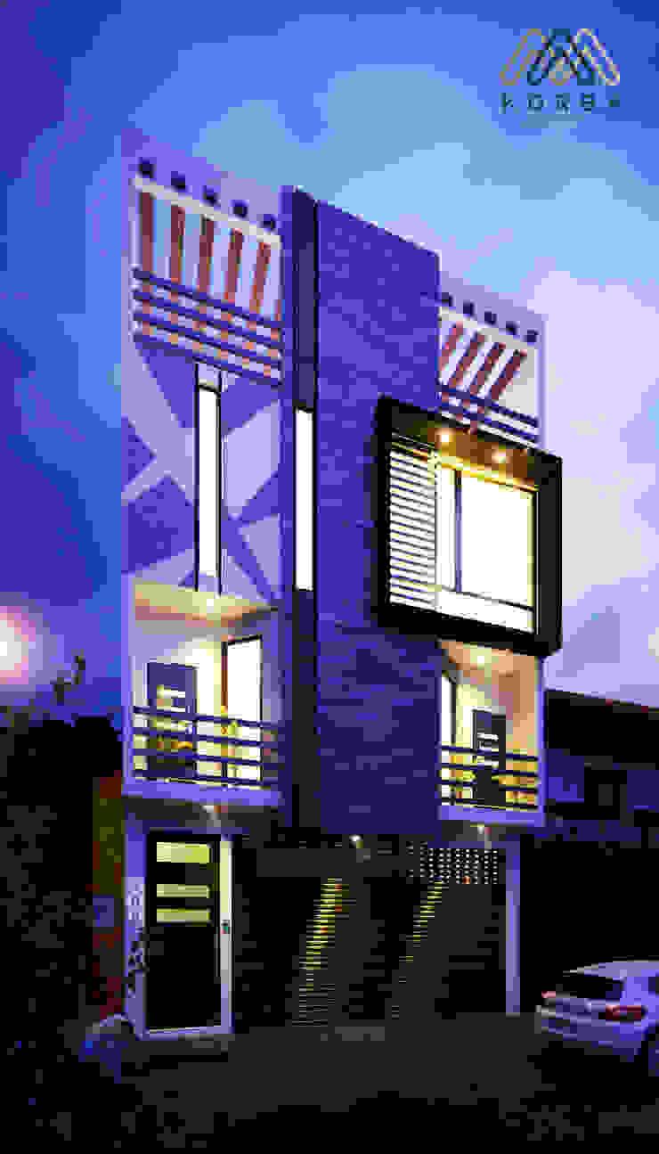 by KORBA Arquitectos Modern Bricks
