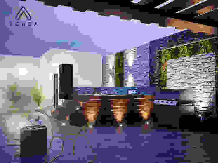 Modern Terrace by KORBA Arquitectos Modern Wood Wood effect