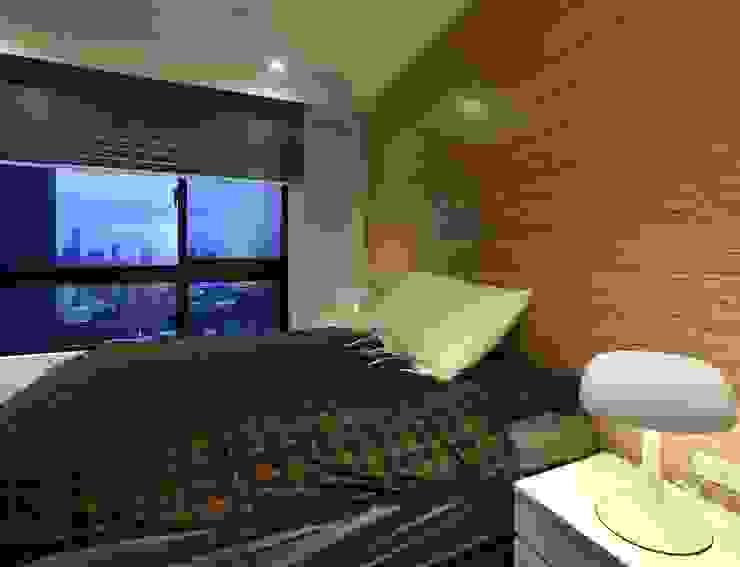 インダストリアルスタイルの 寝室 の 雅群空間設計 インダストリアル