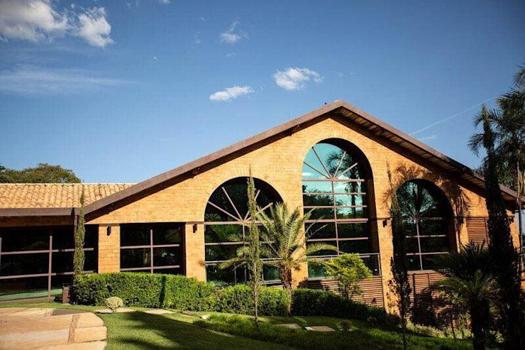 Rustic style event venues by Grupo Nehring - Paisagismo e CIA Rustic
