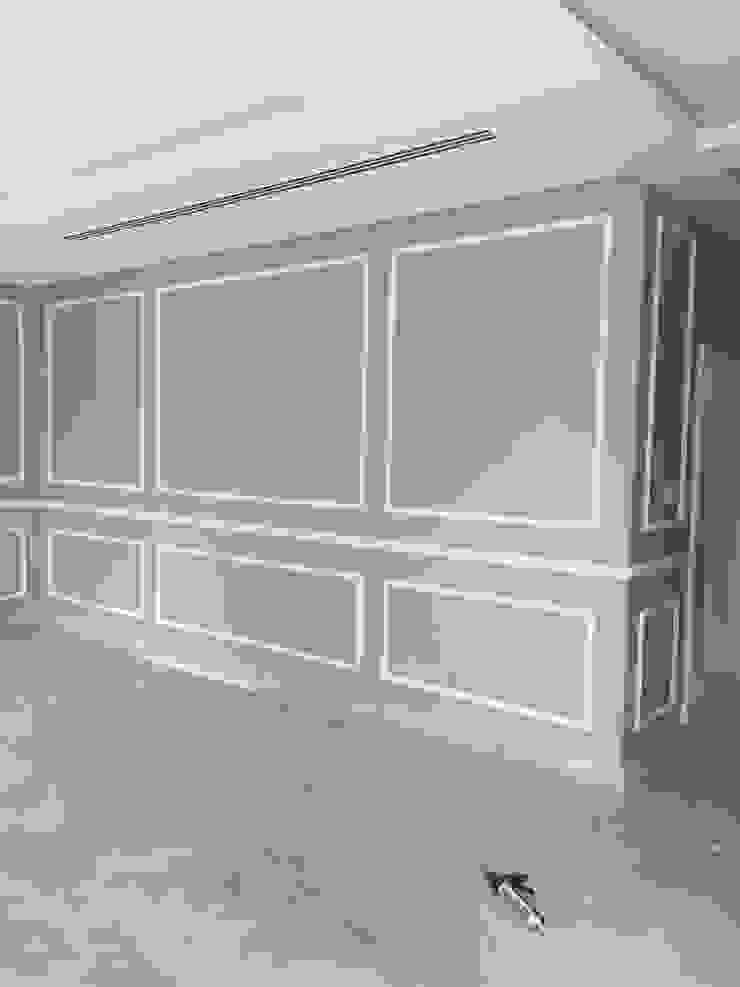 كاسل للإستشارات الهندسية وأعمال الديكور والتشطيبات العامة 客廳壁爐與配件 紙 Grey