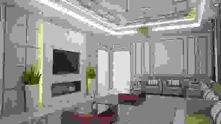 Dinding & Lantai Modern Oleh كاسل للإستشارات الهندسية وأعمال الديكور في القاهرة Modern MDF