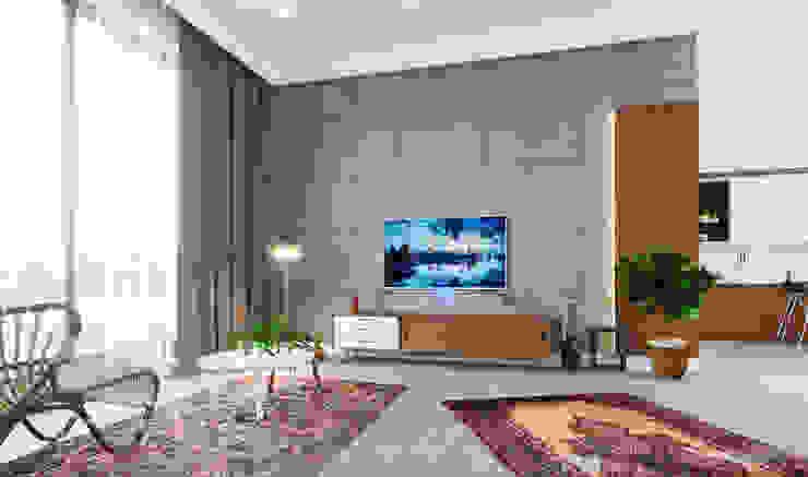 U Tasarım & Mimarlık Modern living room Concrete
