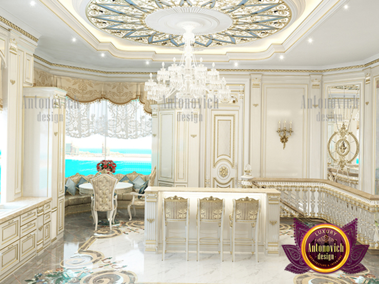 Excellent Gorgeous Kitchen Design in Saudi Arabia by Luxury Antonovich Design