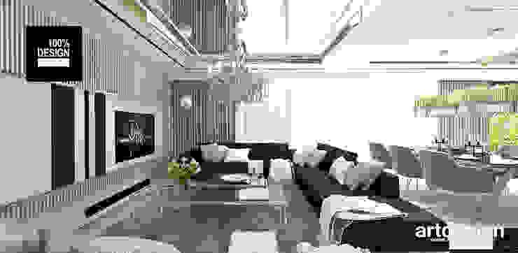 elegancka aranżacja salonu Eklektyczny salon od ARTDESIGN architektura wnętrz Eklektyczny