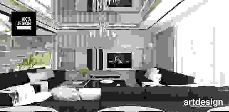 projekt salonu Eklektyczny salon od ARTDESIGN architektura wnętrz Eklektyczny
