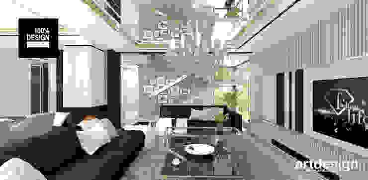 wnętrze domu - salon Eklektyczny salon od ARTDESIGN architektura wnętrz Eklektyczny