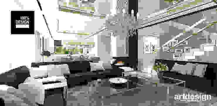 salon z kominkiem Eklektyczny salon od ARTDESIGN architektura wnętrz Eklektyczny