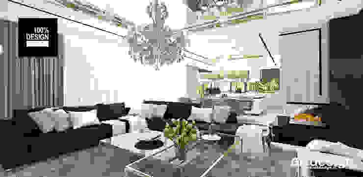 luksusowy salon Eklektyczny salon od ARTDESIGN architektura wnętrz Eklektyczny