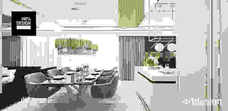 jasna aranżacja wnętrza domu Eklektyczna jadalnia od ARTDESIGN architektura wnętrz Eklektyczny