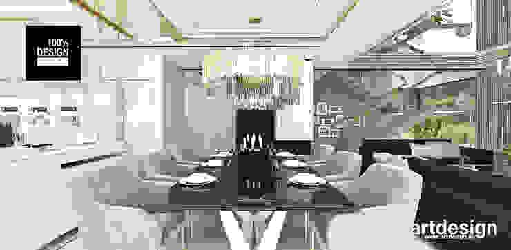 elegancka jadalnia Eklektyczna jadalnia od ARTDESIGN architektura wnętrz Eklektyczny