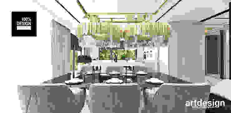 projekt jadalni i kuchni Eklektyczna jadalnia od ARTDESIGN architektura wnętrz Eklektyczny